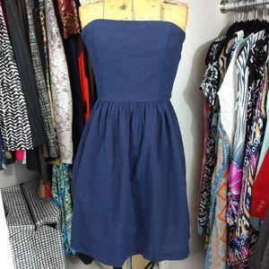 NWT Gap Strapless Dress 100% Cotton